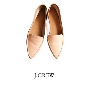 J. Crew Edie nude pointed toe loafers Shoes 9